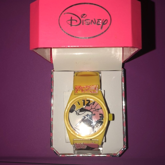 Angry Minnie Mouse Disney Watch NWT